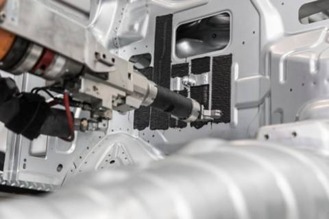 Image of dispensing equipment on the inside of a Vehicle