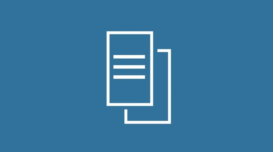 icône bleue montrant des documents