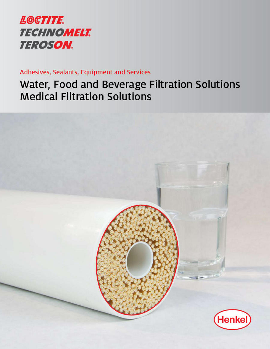 cover of the water, food, beverage and medical filtration brochure