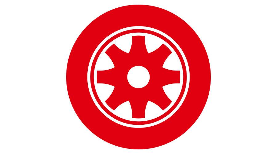 Red wheel illustration