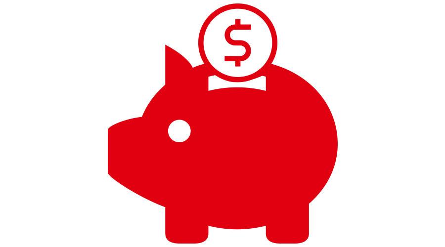 Red piggy bank illustration