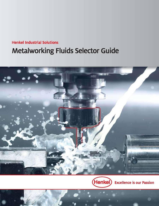 Cover: Metalworking Fluids Selector Guide