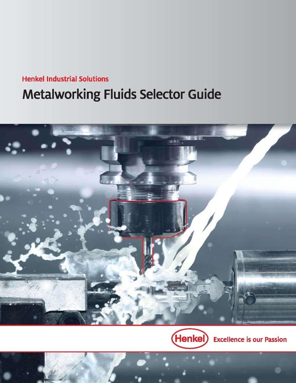 Capa: Guia de seleção de fluidos metalúrgicos