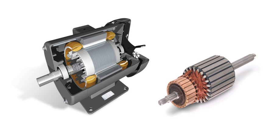 Inside view of electric motor