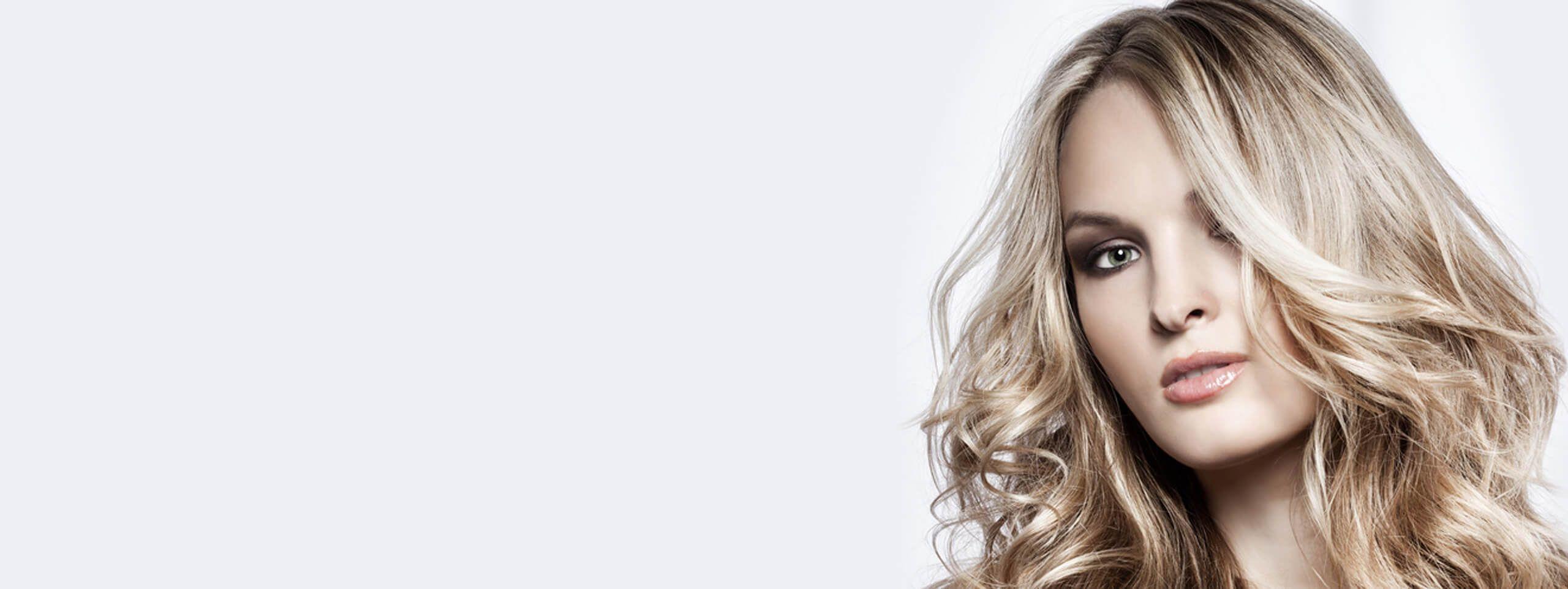 Осветленные волосы кудри