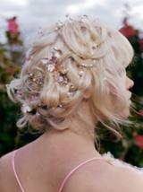 Essential Looks Accessorised Maiden Braids Model With Blonde Hair