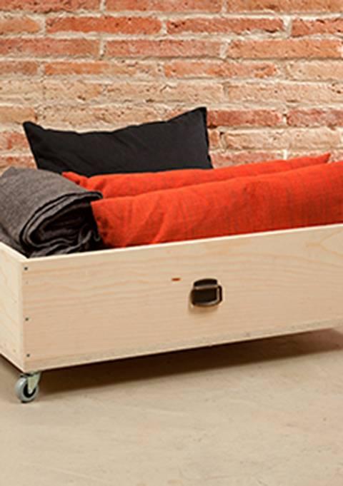 Fabriquer un tiroir de rangement sous lit