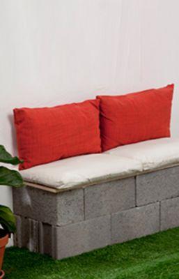 Fabriquer un banc de jardin en parpaing