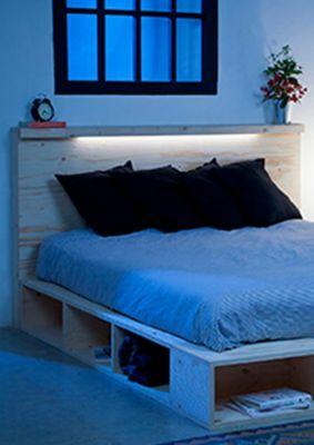 Fabriquer votre lit avec rangement