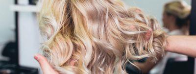Detail of woman's blonde hair