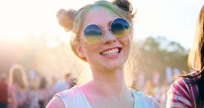 young woman with sunglases