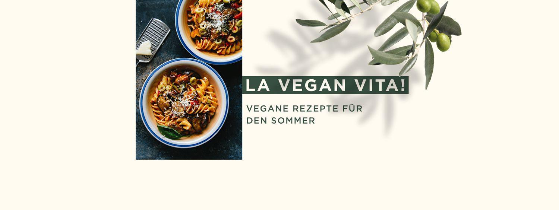 Collage vegane Sommerrezepte