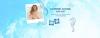 Collage mit festem Shampoo von Schauma, Frau mit lockigen Haaren am Strand, Seepferdchen und Muschel