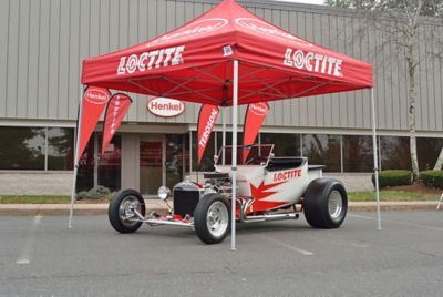 Henkel's LOCTITE car was a key attraction at the grand opening of the VRM Training and Application Center.