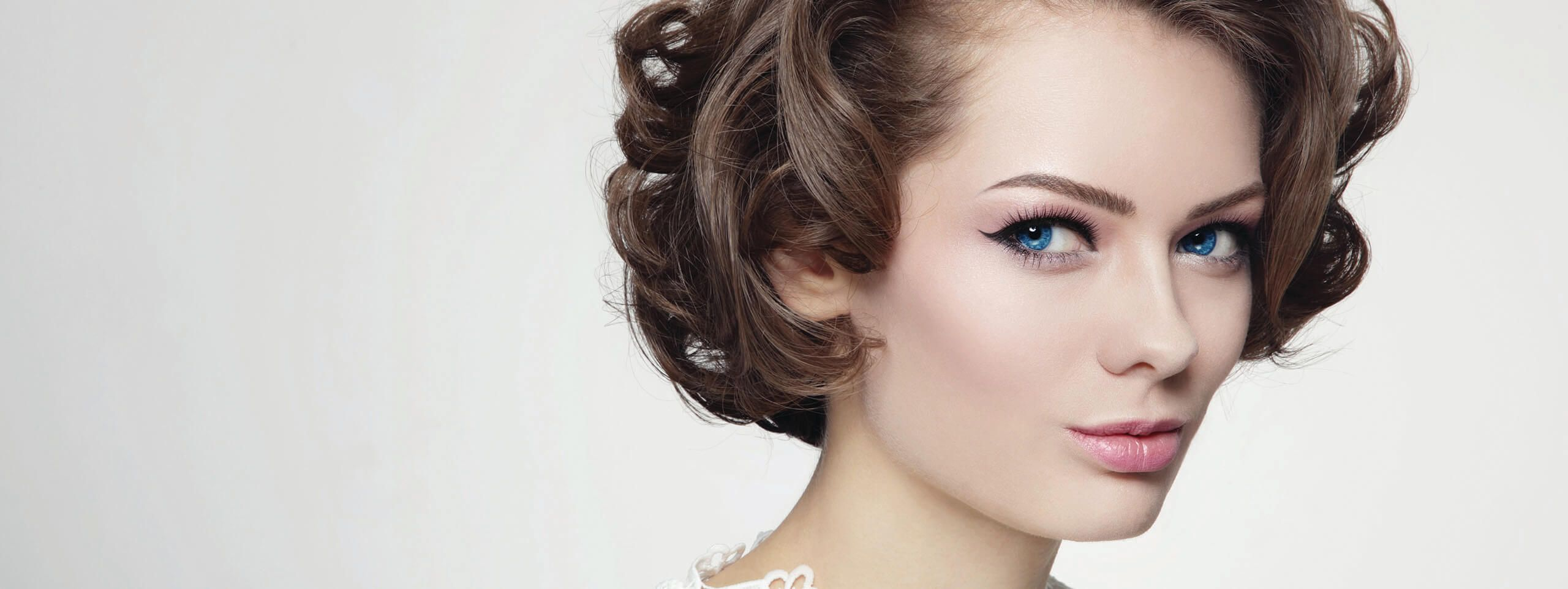 Woman with sixties hairstyle