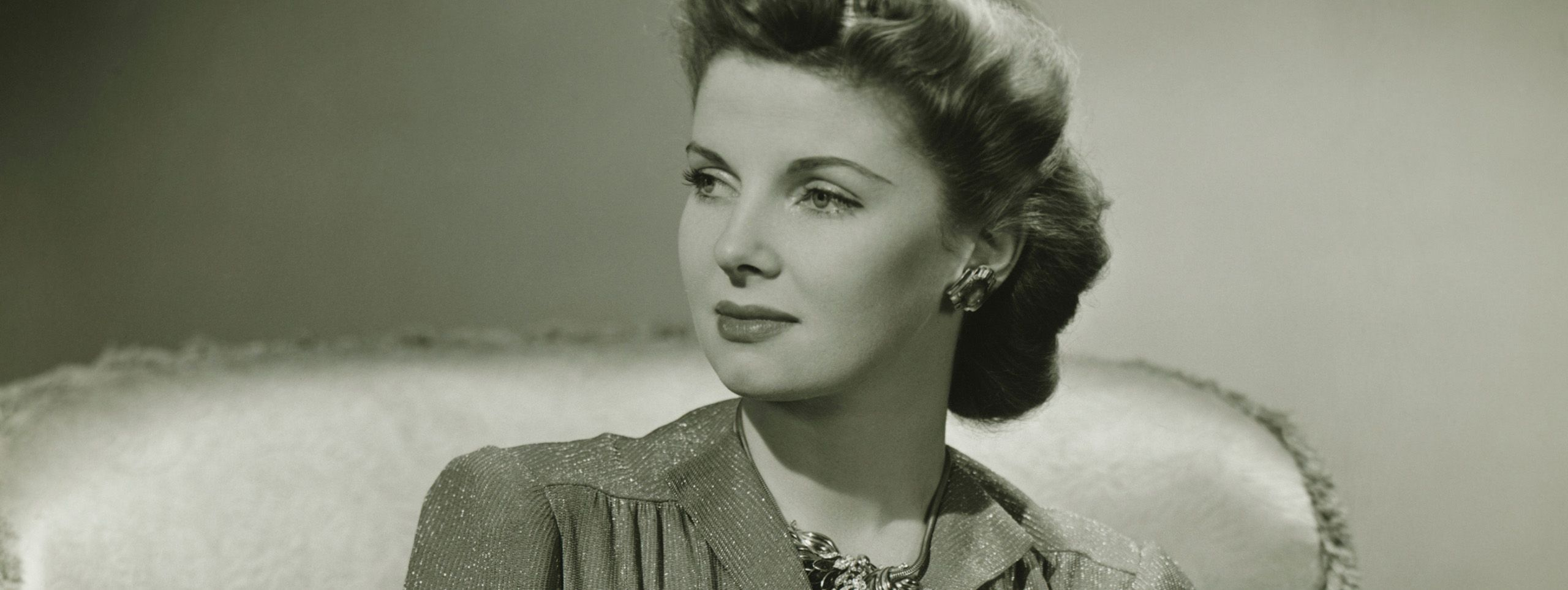 Woman with 40s style hair
