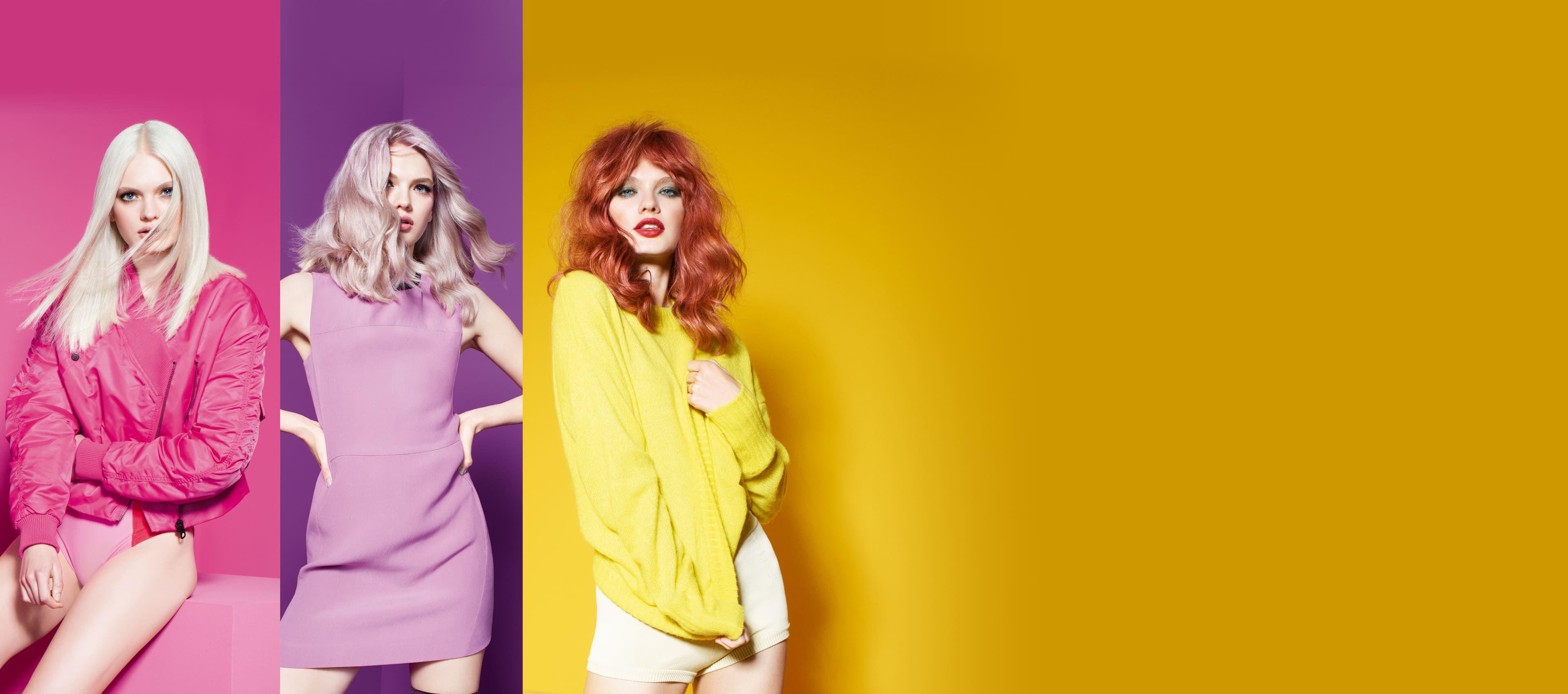 Celebrity color de cabello exótico tono frambuesa