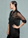 Model Myla mit Updo.