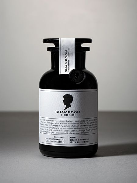 Nahaufnahme einer Shampoo-Flasche