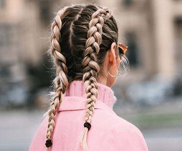 Woman with Dutch braids