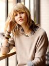 Woman with blonde streaks