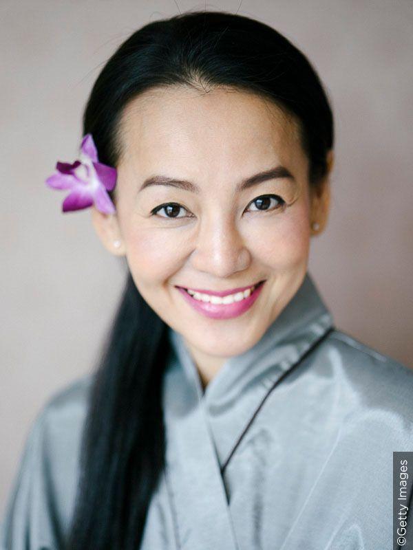 Happy smiling Thai woman.