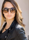 Brunette woman with balayage hair and sunglasses