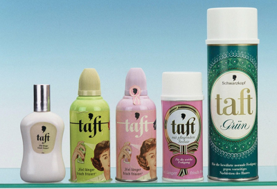First Taft hairspray from Schwarzkopf.