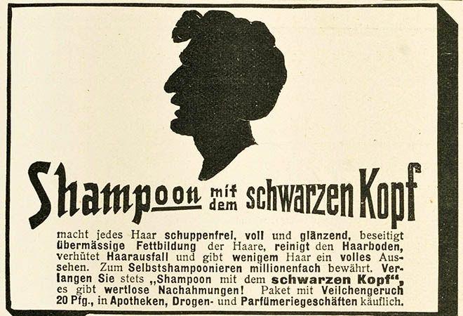 První šampon Schwarzkopf.