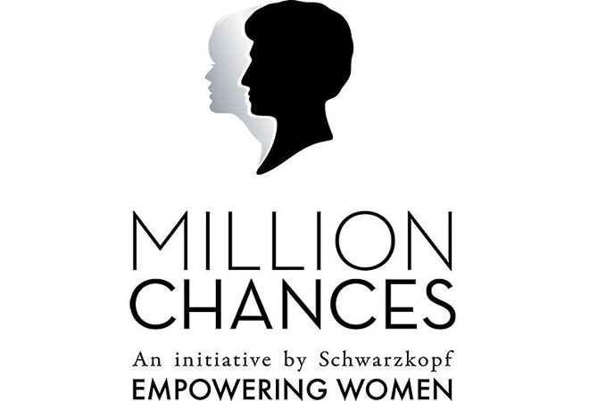 Logo of Million Chances charity initiative by Schwarzkopf.