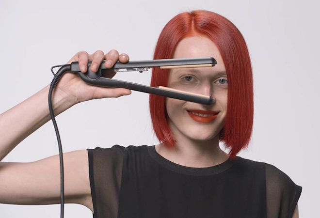 Hair straighteners are the perfect tool to achieve the Sleeping Glam Look.