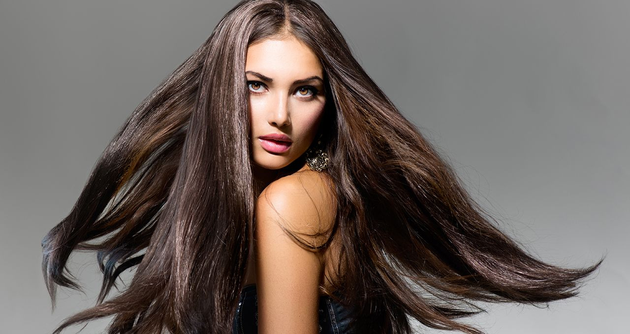 Вьющиеся густые длинные волосы