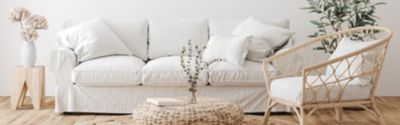 white couch in a living room