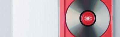 CD in einer roten Hülle