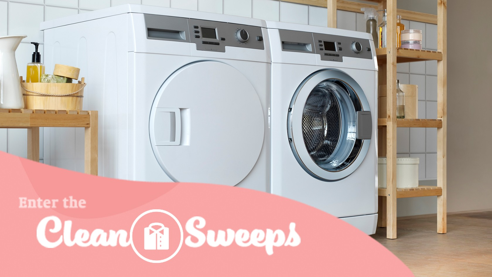 Enter for your chance to win a washer & dryer