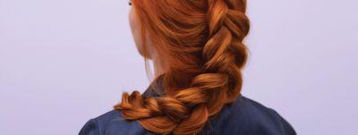 red hair braid