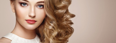 Woman with glossy shiny hair