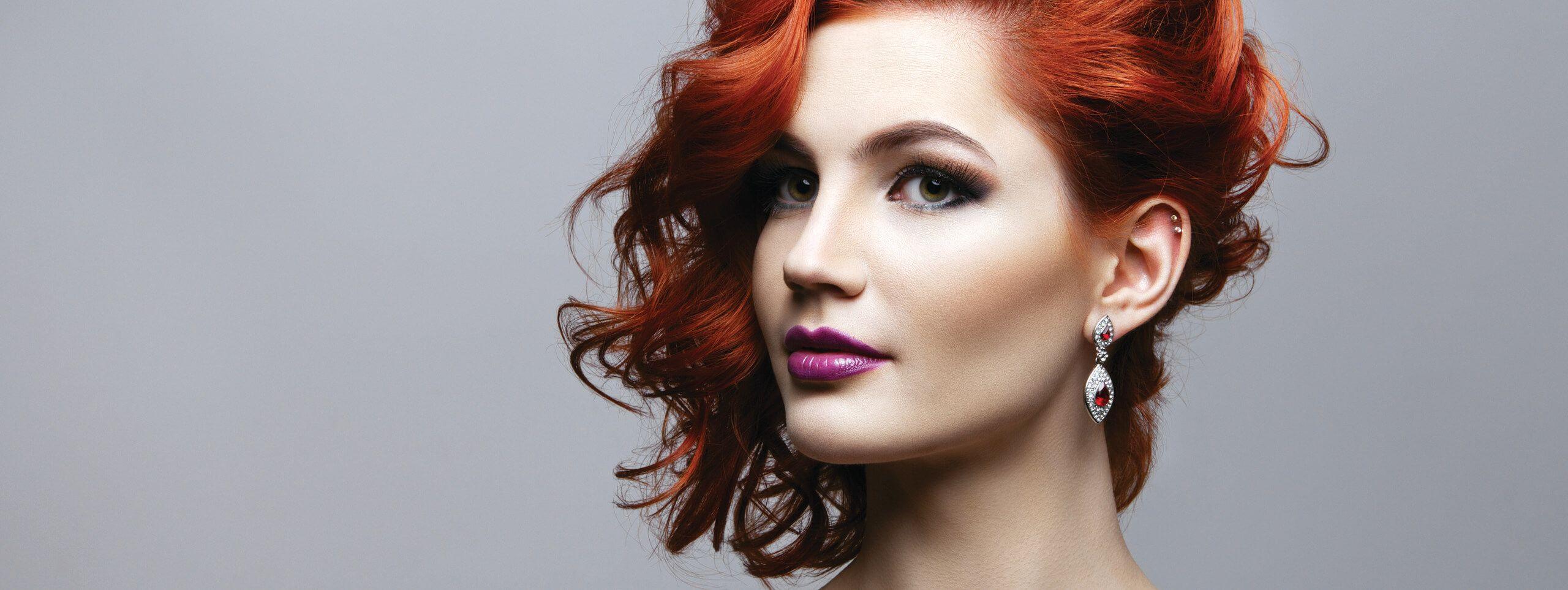 Model wears sleek hairstyle