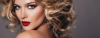 blonde model red lips