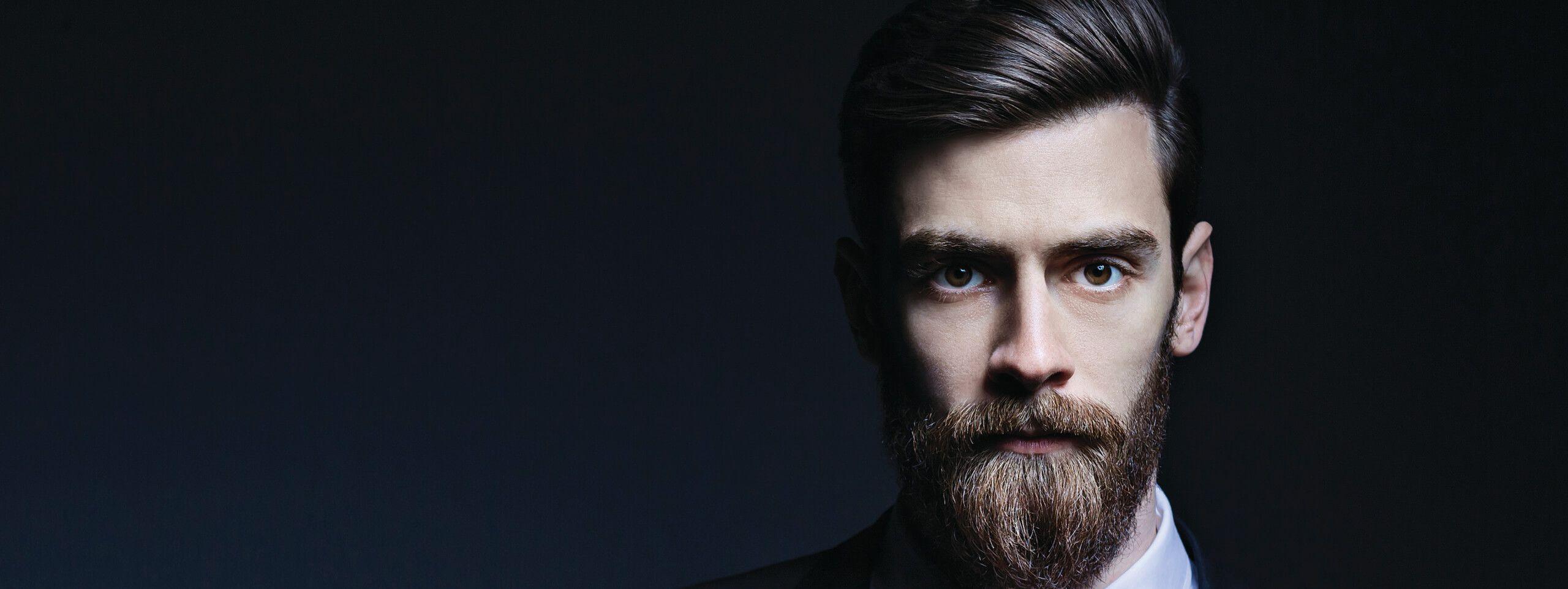 Barbe pailleté homme