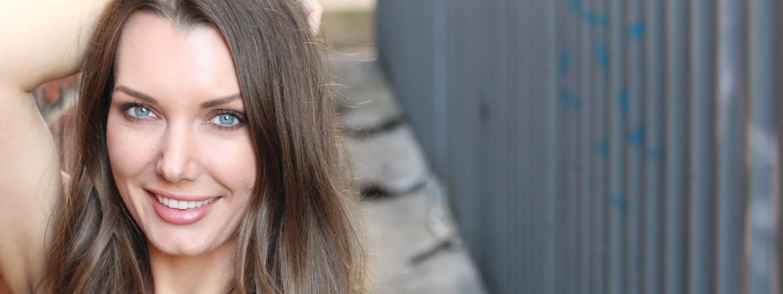 Heidi Klum with layered hairstyle