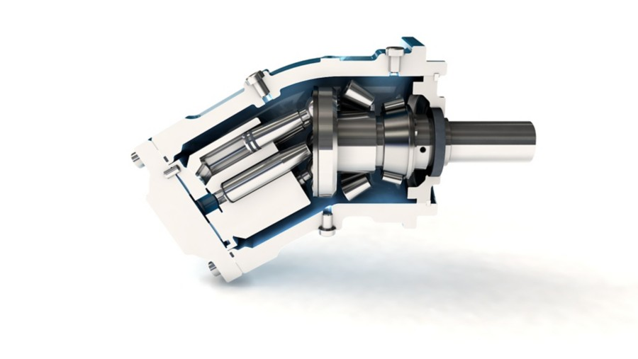 Axial Hydraulic motor inside view