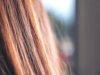 Close up of brunette hair