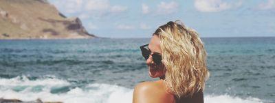 EyeEm woman with shorter blonder hair on a beach