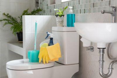 Effizient das Klo reinigen.