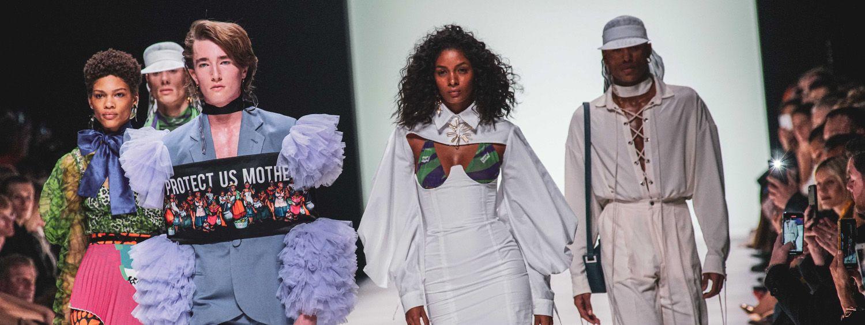 Models auf der Mercedes-Benz Fashion Week 2020