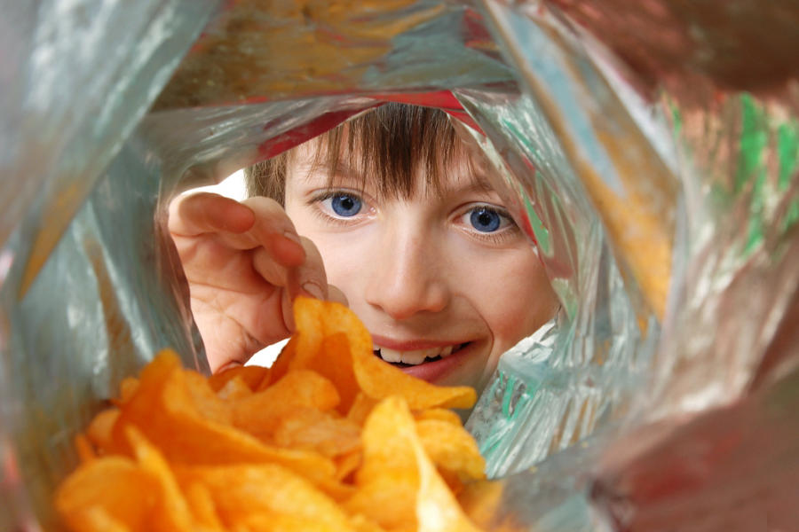 flexible packaging for potato chips