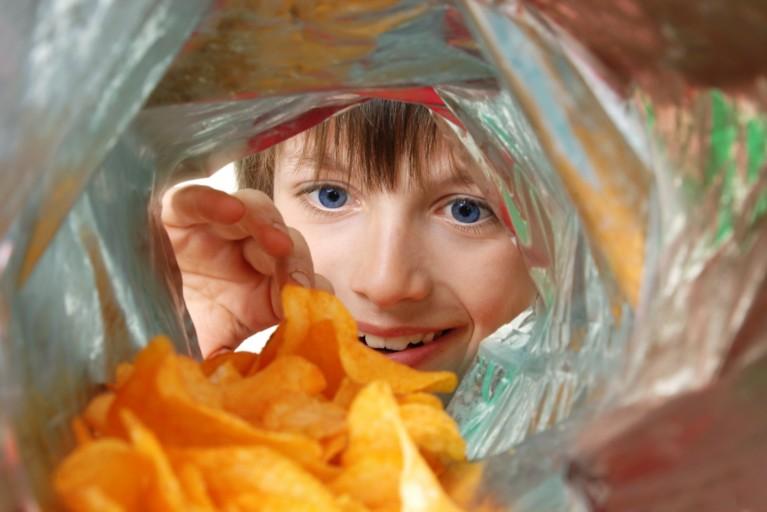 薯片的软包装