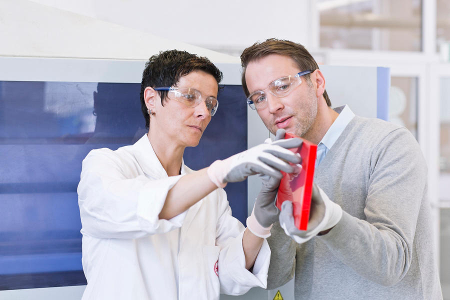 Couple Examining Engineered Wood