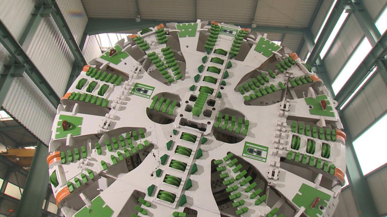 massive cutting wheel from Herrenknecht